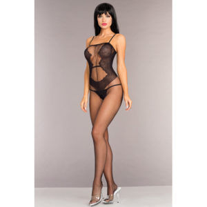 Be Wicked - Open Bodystocking With Lace Design
