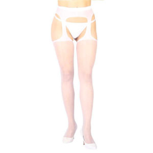 Vixson - Vixson Basic Garterbelt With Stockings - White